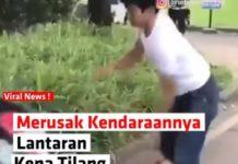 Video Pemuda Rusak Motor Saat ditilang