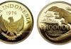 Uang Emas Seratus Ribuan